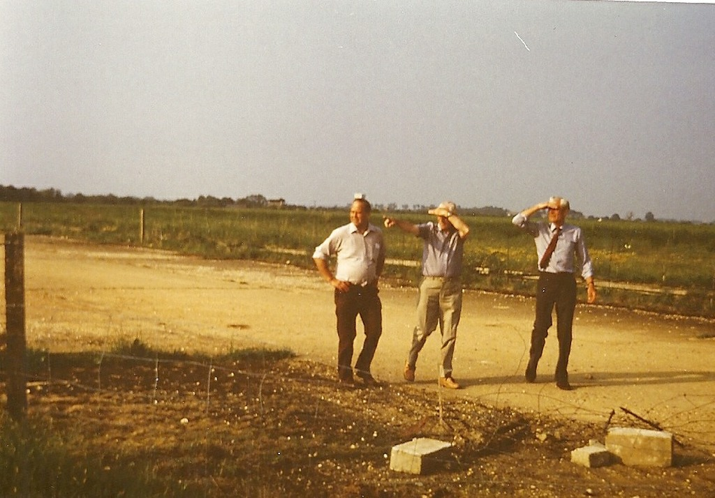 Noel, Lew and Bill at 'C' Flight dispersal RAF Broadwell 11 June 1984